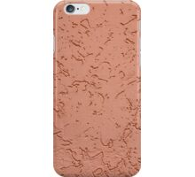 Detail of a wall closeup with a decorative pattern iPhone Case/Skin