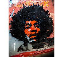 Jimmy Hendrix is Orange Photographic Print