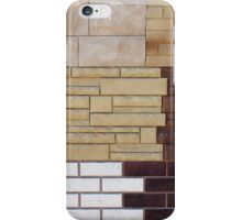 Fragment wall with different types of decorative coating iPhone Case/Skin