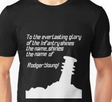 Rodger Young Beacon (White) Unisex T-Shirt