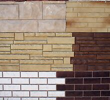 Fragment wall with different types of decorative coating by vladromensky