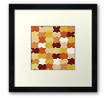 Orange Puzzle Framed Print