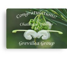 Grevillea Challenge Win Banner Canvas Print