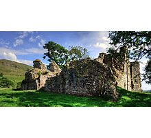 Pendragon Castle Ruin Photographic Print