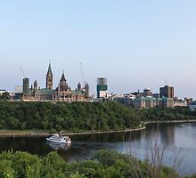 City of Ottawa at dusk by Josef Pittner