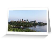 City of Ottawa at dusk Greeting Card