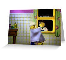 Peeping Lego Greeting Card