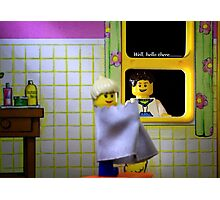 Peeping Lego Photographic Print