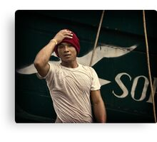 Angel in Red Cap #0101 Canvas Print