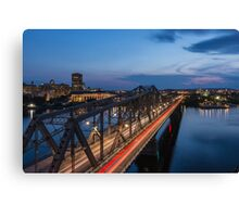 The bridge over water Canvas Print