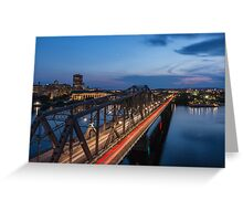 The bridge over water Greeting Card