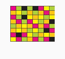 Brightly Neon Colored Squares Pattern Unisex T-Shirt