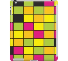 Brightly Neon Colored Squares Pattern iPad Case/Skin