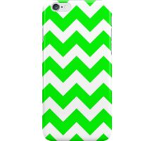 Retro Neon Green Chevron Pattern iPhone Case/Skin