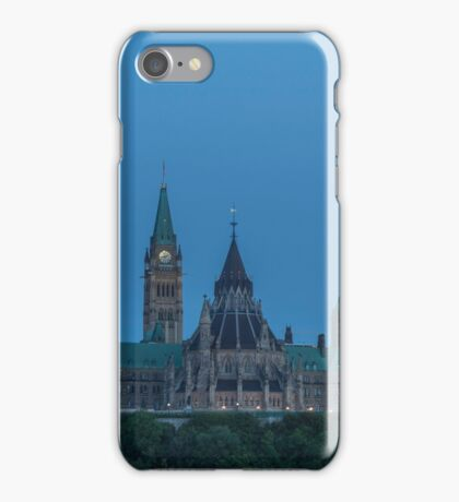 Canada's Parliament buildings - Centre Block iPhone Case/Skin