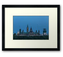 Canada's Parliament buildings - Centre Block Framed Print