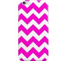 Cute Neon Pink Chevron Zigzag Pattern iPhone Case/Skin