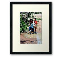 Joyful children Framed Print
