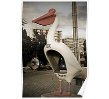 Pelican Phone Booth Poster