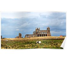 Whitby abbey, North Yorkshire Poster