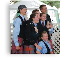 Laughter at the Scottish Highland Games Canvas Print