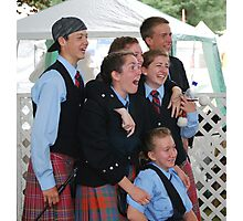 Laughter at the Scottish Highland Games Photographic Print