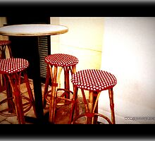 Red bar stools... by fruitcake