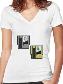 CARTRIDGES Women's Fitted V-Neck T-Shirt