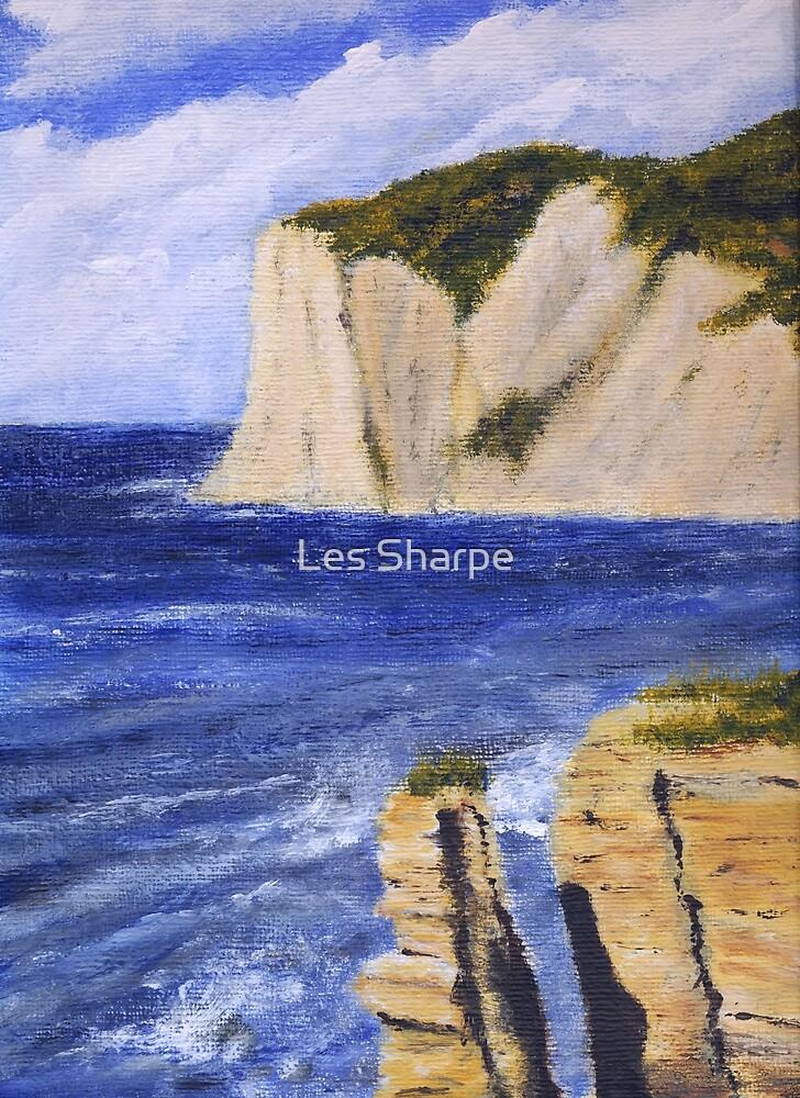 Seacliffs, Agios Stefanos, Corfu by Les Sharpe