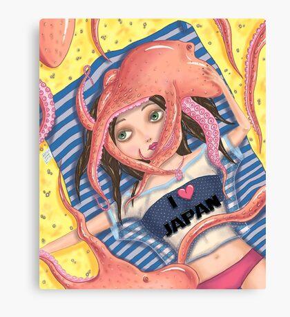 Octopus vacation Canvas Print