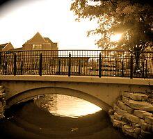 Bridge at Dusk by Amy Brookins