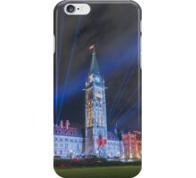Canada's Parliament Building - Northern Lights show iPhone Case/Skin