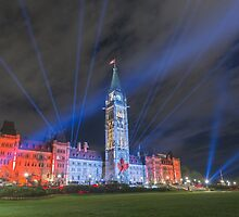 Canada's Parliament Building - Northern Lights show by Josef Pittner