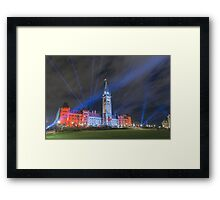 Canada's Parliament Building - Northern Lights show Framed Print