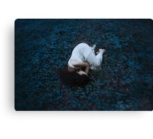 Sleeping girl in forest Canvas Print