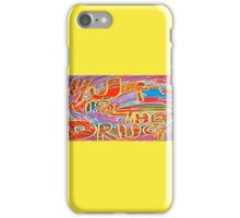 Hug is the Drug, love psychedelic design  iPhone Case/Skin