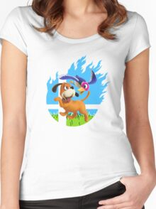 Smash Hype - Duck Hunt Dog Women's Fitted Scoop T-Shirt