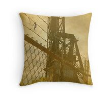 Abandoned Train Bridge Throw Pillow