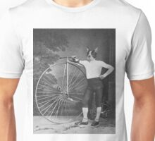 Boston Terrier with Bike Unisex T-Shirt