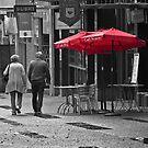 Rainy city street by Linda Sparks