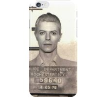 david bowie mugshot iPhone Case/Skin