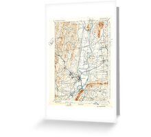 Massachusetts  USGS Historical Topo Map MA Northampton 352909 1895 62500 Greeting Card