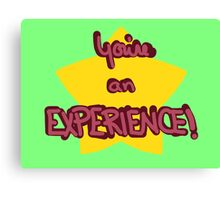 You're an experience! Canvas Print