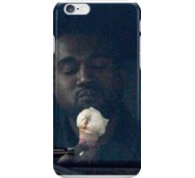 Kanye West eating an ice-cream cone iPhone Case/Skin
