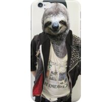 Punk Sloth! iPhone Case/Skin