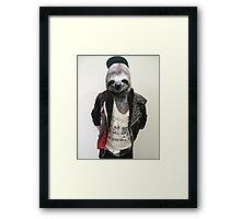 Punk Sloth! Framed Print