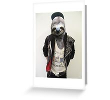 Punk Sloth! Greeting Card