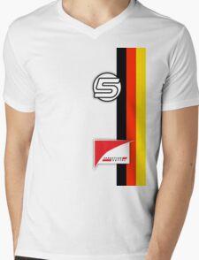 Vettel Helmet Mens V-Neck T-Shirt