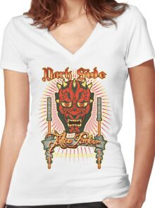 Dark Side Tattoo Parlour Women's Fitted V-Neck T-Shirt