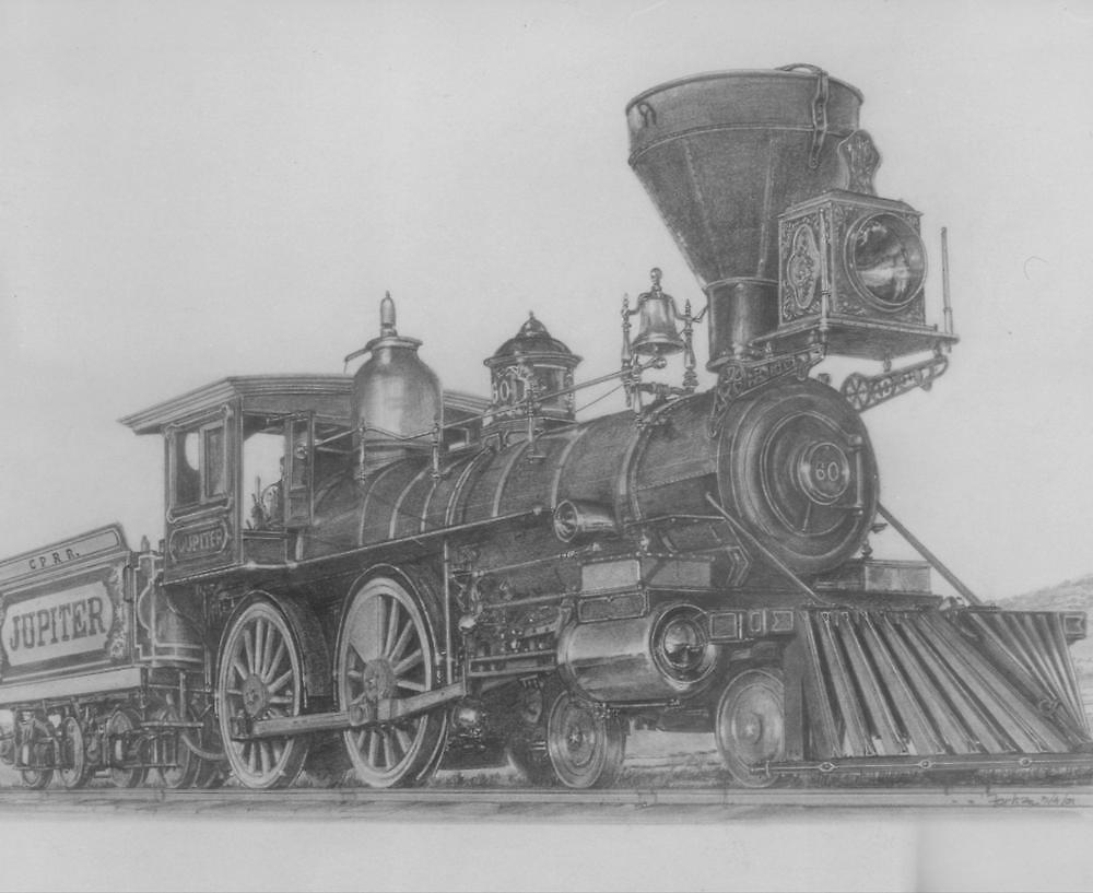 """'Golden Spike' Ceremonial Engine- """"Jupiter"""" by Tim Forhan"""